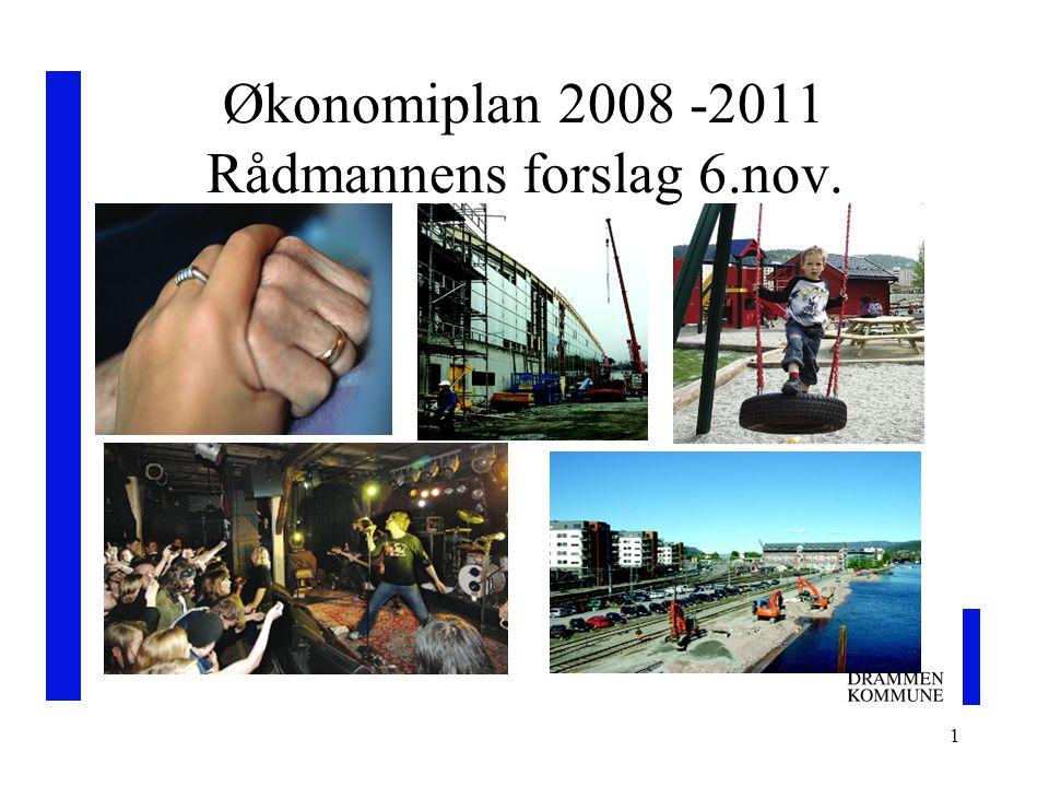 1 Økonomiplan 2008 -2011 Rådmannens forslag 6.nov.
