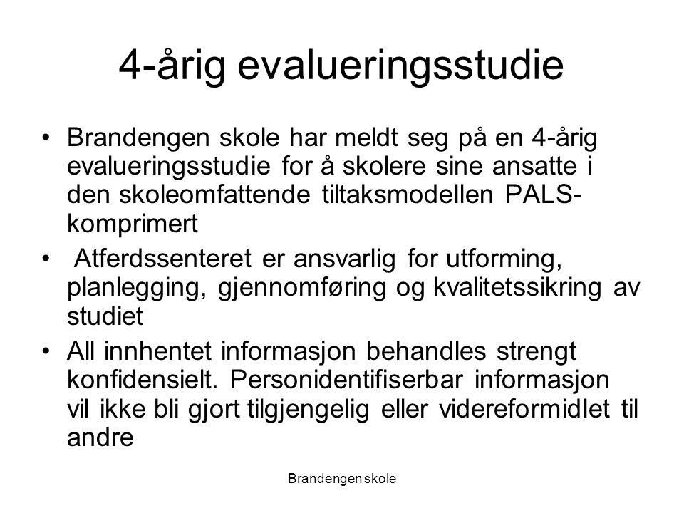 Brandengen skole Pals-tiltaksmodell; fire hoveddeler Systemdel: –Omhandler skolens interne og eksterne støttesystem.