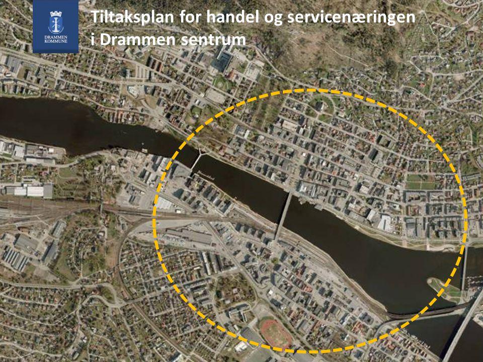 Oppdraget Vedtaket i bystyret 23.11.2010: Bystyret ber Rådmannen i samarbeid med Byen Vår Drammen og Drammen Næringslivsforening å gjennomføre en studie med etterfølgende tiltaksplan for å fremme handel og servicenæringen i sentrum.