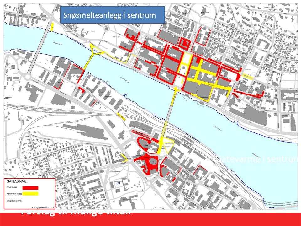 Forslag til mulige tiltak Strakstiltak (1-2 år) Strømsø torg – snøsmelteanlegg