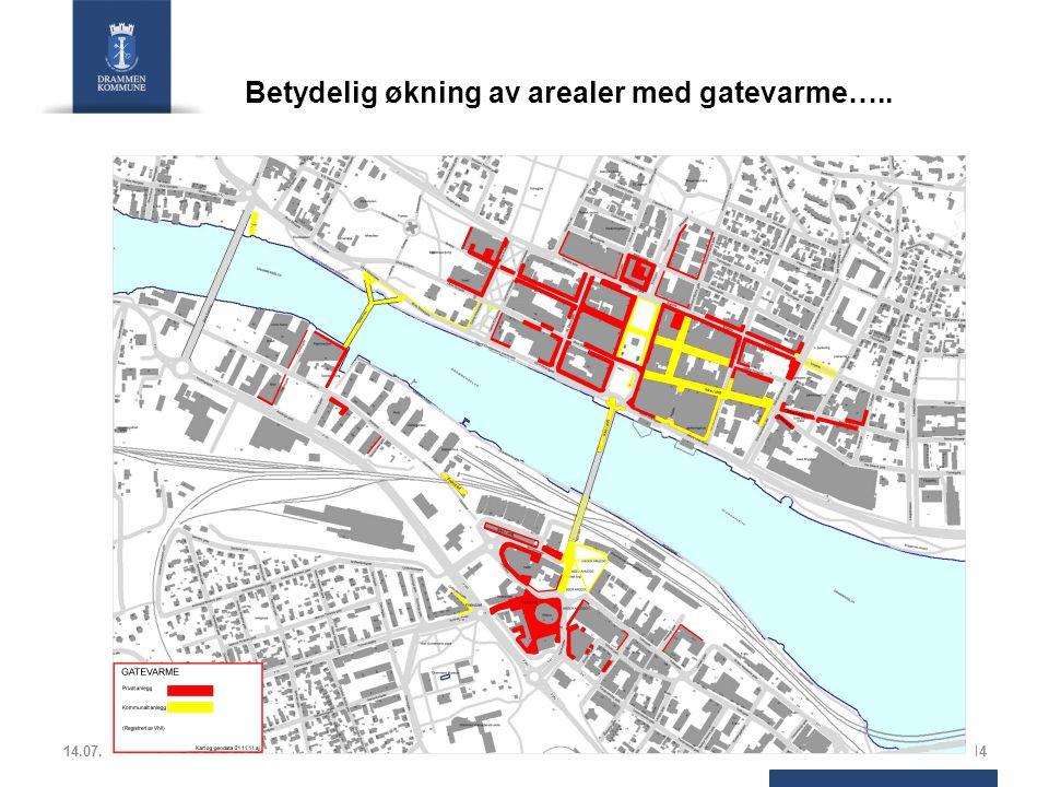 14.07.201414 Betydelig økning av arealer med gatevarme…..
