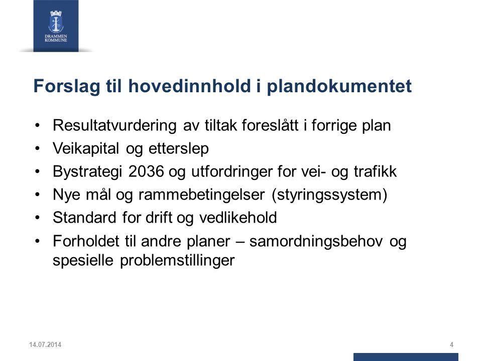 Rullering Hovedplan 2007 innebærer Ser først litt tilbake Hvilke mål ble satt.