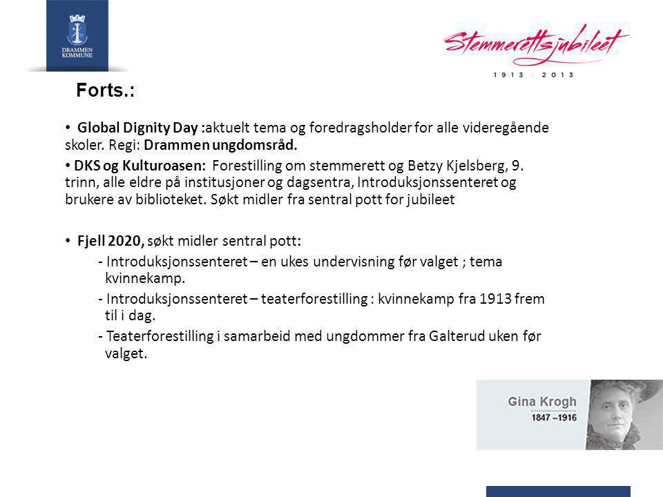Forts.: Byarkivet: - Digitaliserer to private arkiver (Thea Ebbells upubliserte private arkiv, Drammen krets av Landsstemmerettsforeningen).