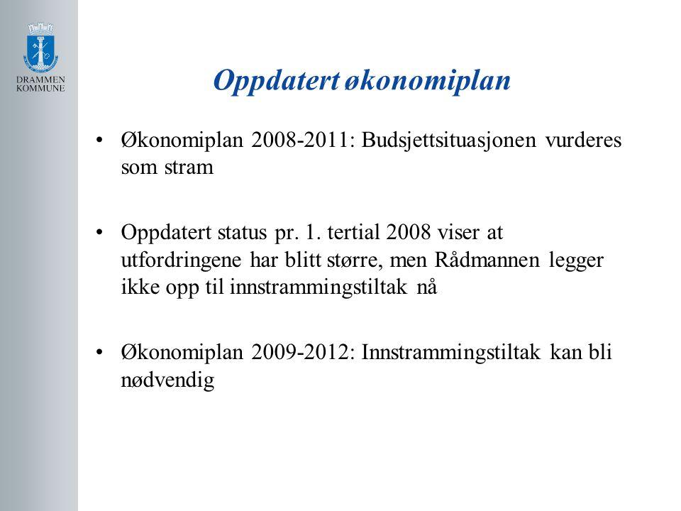 Oppdatert økonomiplan Økonomiplan 2008-2011: Budsjettsituasjonen vurderes som stram Oppdatert status pr.
