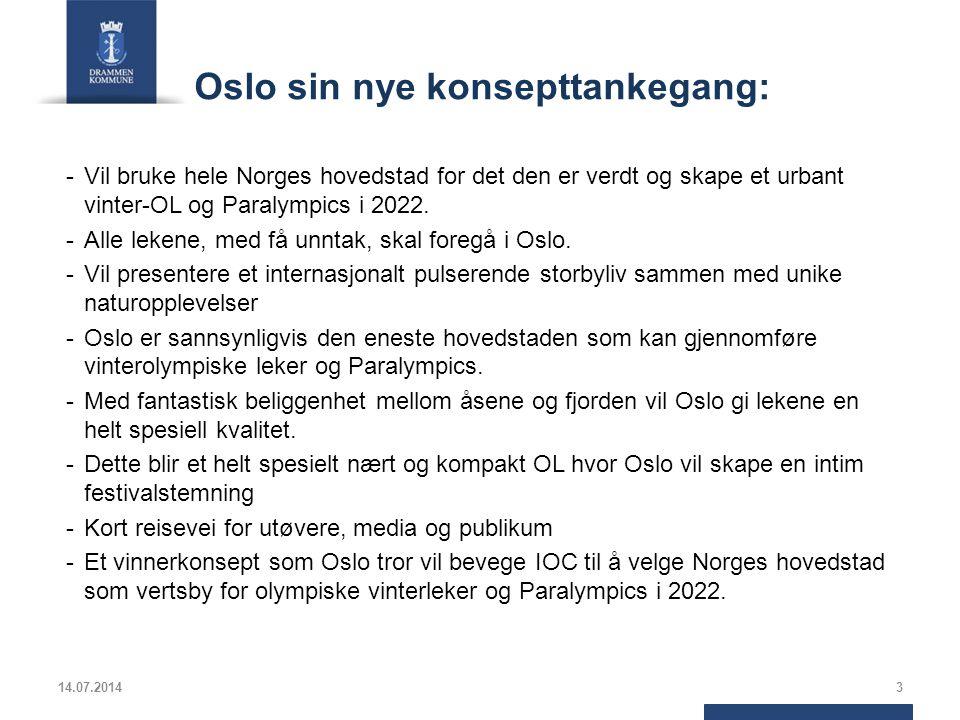 Oslo sin nye konsepttankegang: -Vil bruke hele Norges hovedstad for det den er verdt og skape et urbant vinter-OL og Paralympics i 2022. -Alle lekene,
