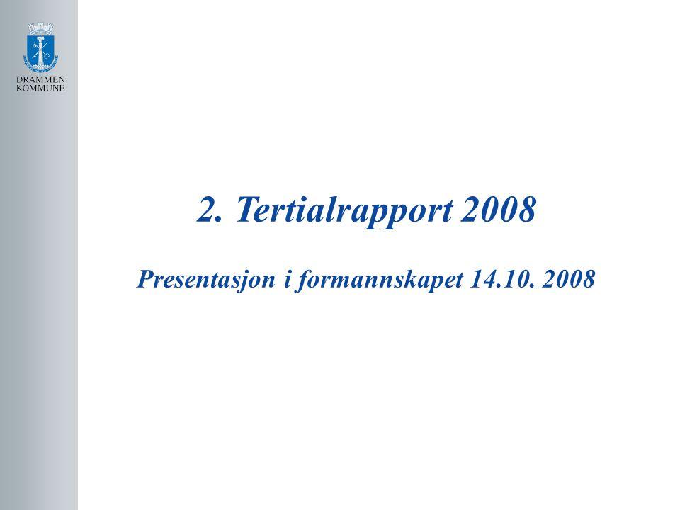 Netto driftsresultat 2008 Opprinnelig budsjett 2008: Netto driftsunderskudd 6,6 mill.
