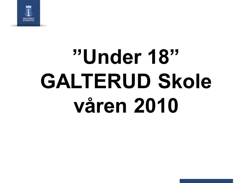 """""""Under 18"""" GALTERUD Skole våren 2010"""