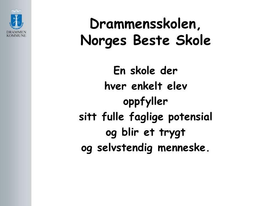 Drammensskolen, Norges Beste Skole En skole der hver enkelt elev oppfyller sitt fulle faglige potensial og blir et trygt og selvstendig menneske.