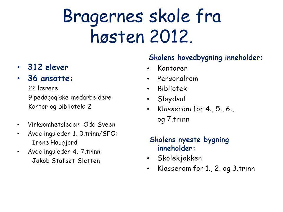 Bragernes skole fra høsten 2012.