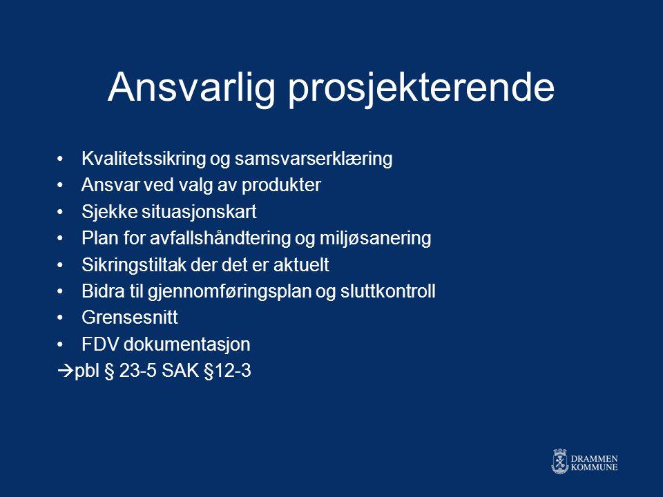 Særskilte bestemmelser om ansvar SAK § 12-6 - opphør av ansvar - oppbevaring av dokumentasjon - underleverandører - ulovlige forhold