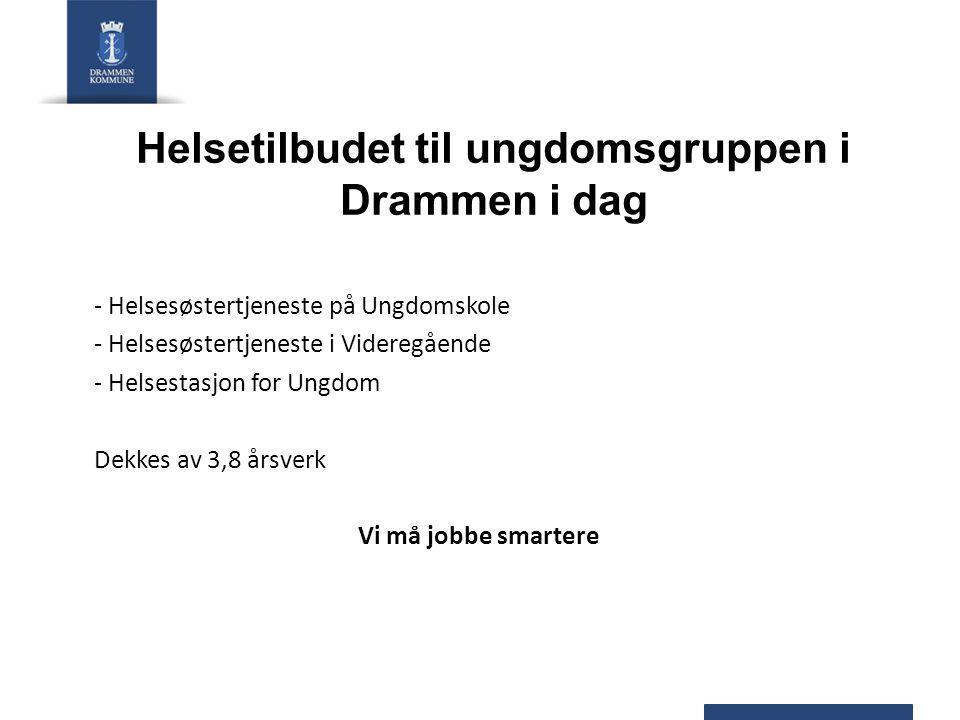 Helsetilbudet til ungdomsgruppen i Drammen i dag - Helsesøstertjeneste på Ungdomskole - Helsesøstertjeneste i Videregående - Helsestasjon for Ungdom D