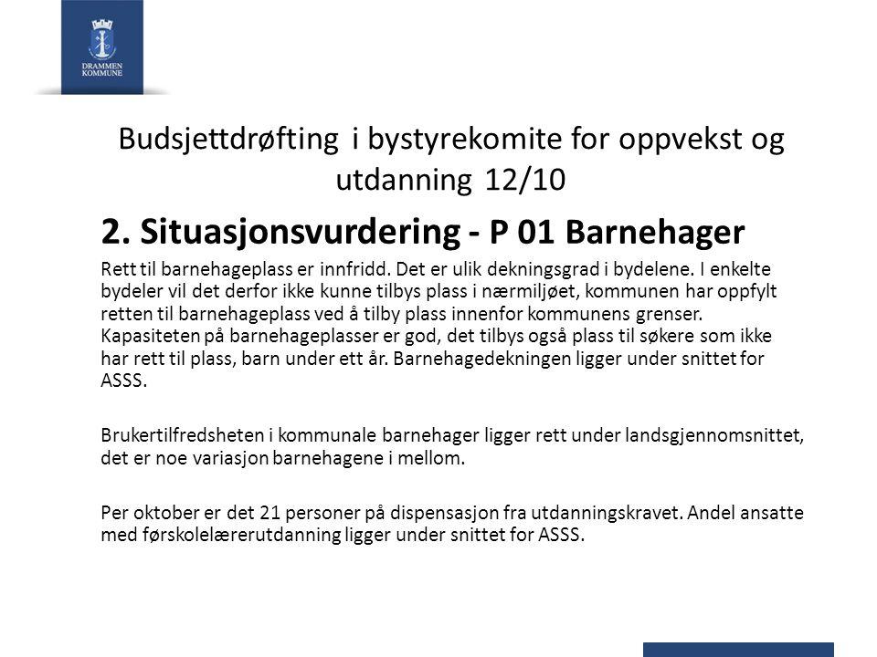 Budsjettdrøfting i bystyrekomite for oppvekst og utdanning 12/10 2.
