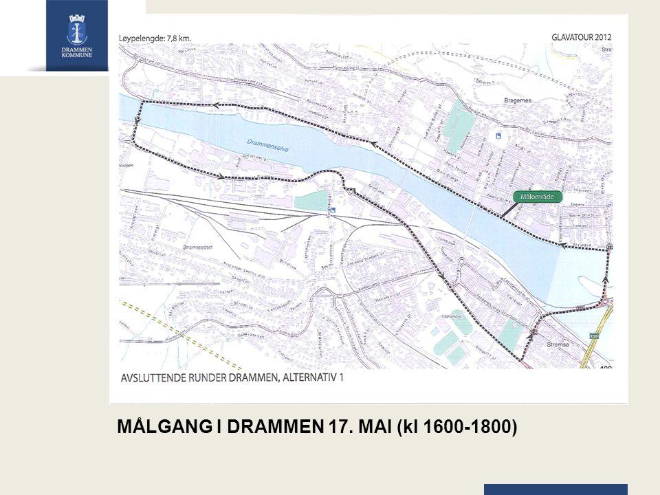 MÅLGANG I DRAMMEN 17. MAI (kl 1600-1800)