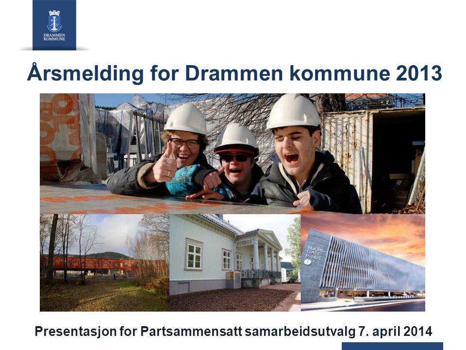 Årsmelding for Drammen kommune 2013 Presentasjon for Partsammensatt samarbeidsutvalg 7. april 2014