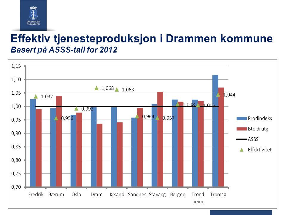 Effektiv tjenesteproduksjon i Drammen kommune Basert på ASSS-tall for 2012 18