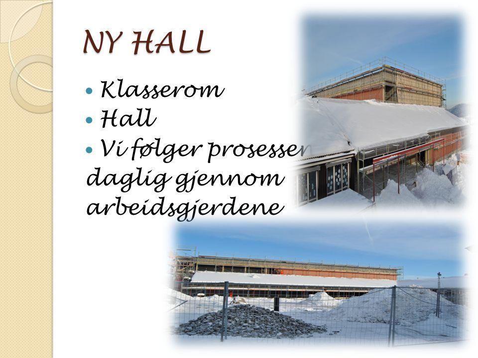 NY HALL Klasserom Hall Vi følger prosessen daglig gjennom arbeidsgjerdene