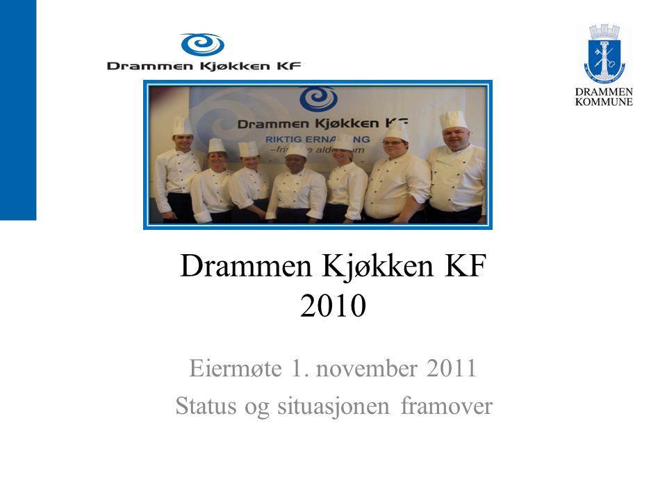 Drammen Kjøkken KF 2010 Eiermøte 1. november 2011 Status og situasjonen framover