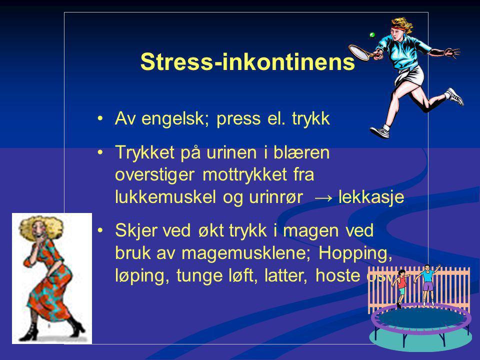 Stress-inkontinens Av engelsk; press el.