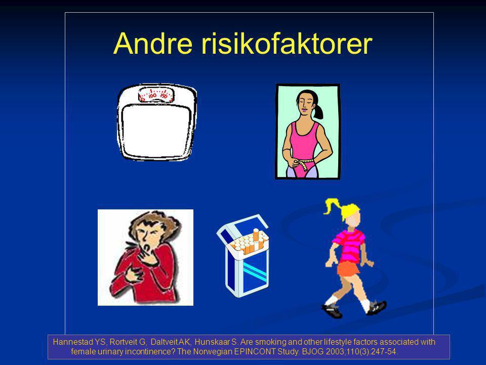 Andre risikofaktorer Hannestad YS, Rortveit G, Daltveit AK, Hunskaar S.