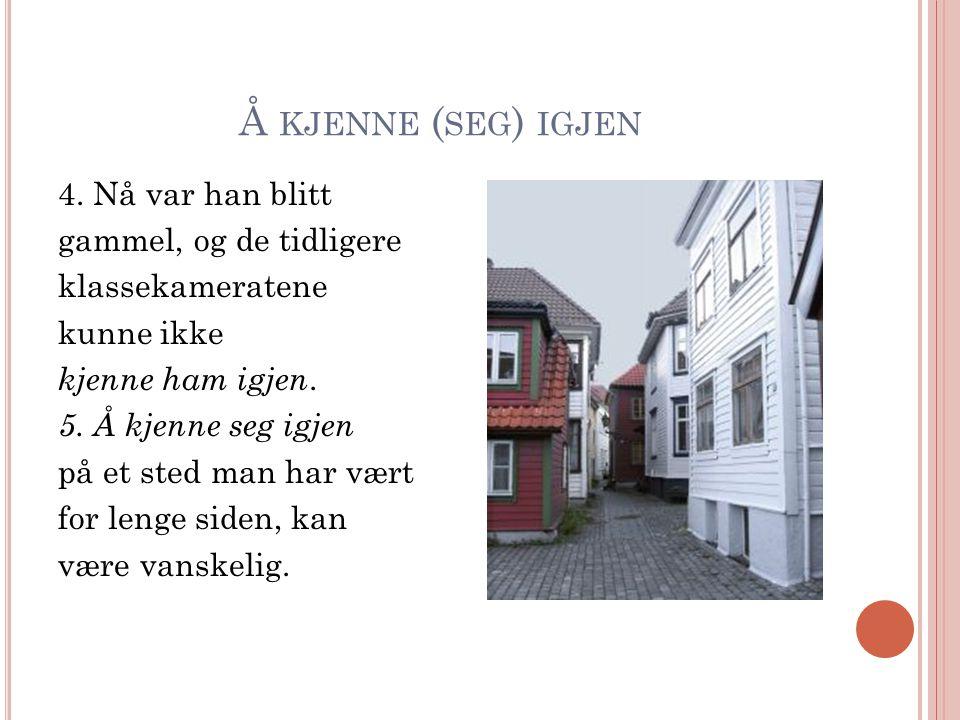 Å KJENNE ( SEG ) IGJEN 4.