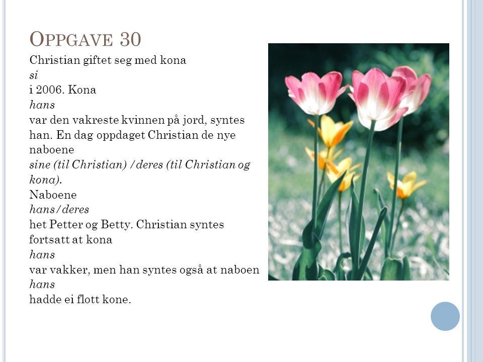 O PPGAVE 30 Christian giftet seg med kona si i 2006.