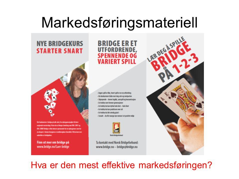 Markedsføringsmateriell Hva er den mest effektive markedsføringen?