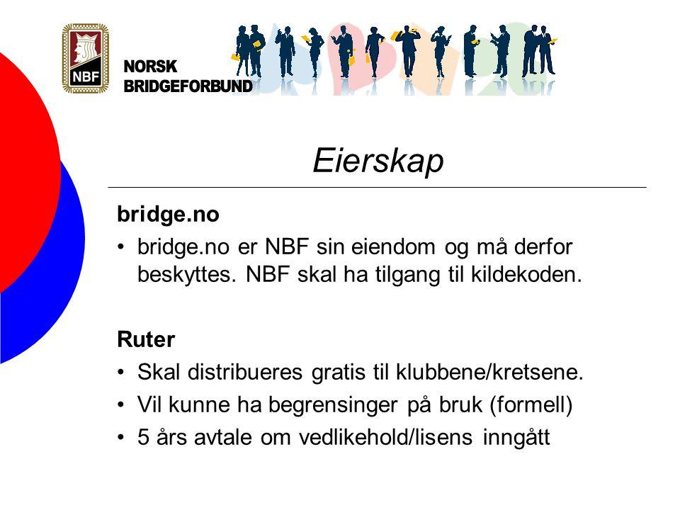 Eierskap bridge.no bridge.no er NBF sin eiendom og må derfor beskyttes.