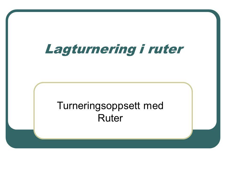 Lagturnering i ruter Turneringsoppsett med Ruter