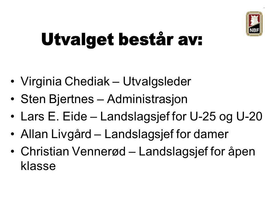 Virginia Chediak – Utvalgsleder Sten Bjertnes – Administrasjon Lars E.