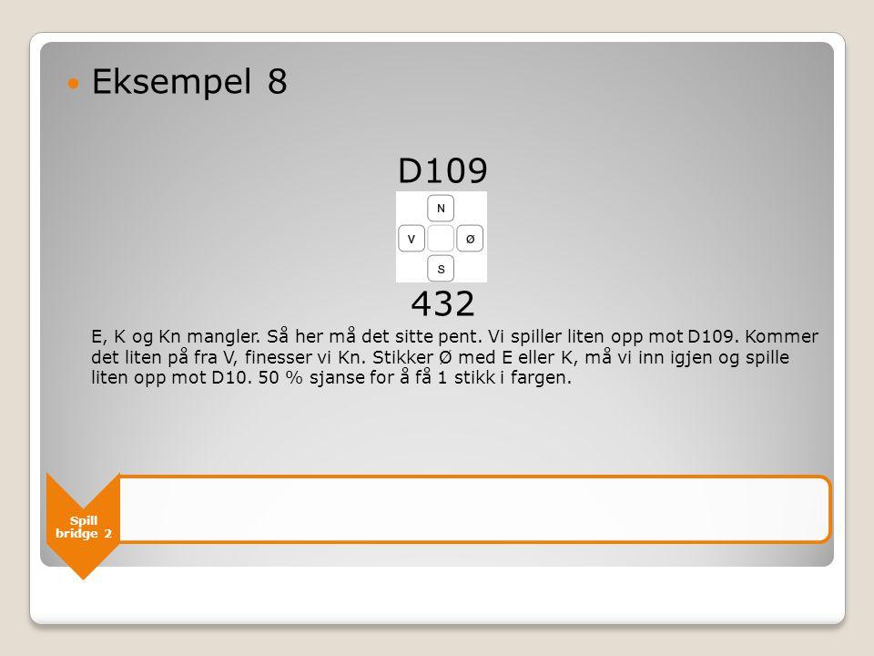 Spill bridge 2 Eksempel 8 D109 432 E, K og Kn mangler.