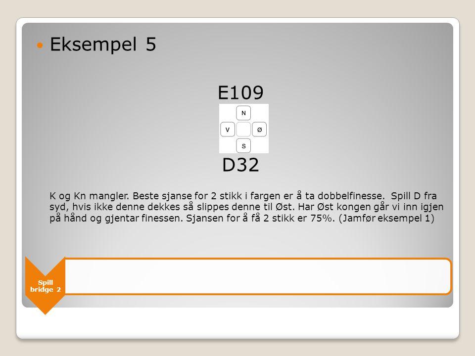 Spill bridge 2 Eksempel 5 E109 D32 K og Kn mangler.