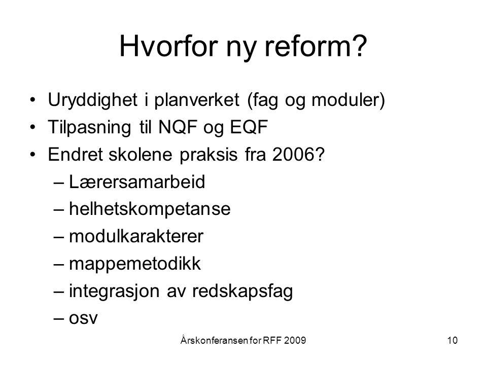 Hvorfor ny reform.
