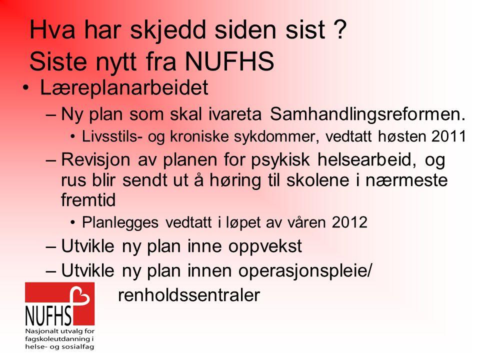 Temaer siste år: Planrevisjon Ny plan St.meld.