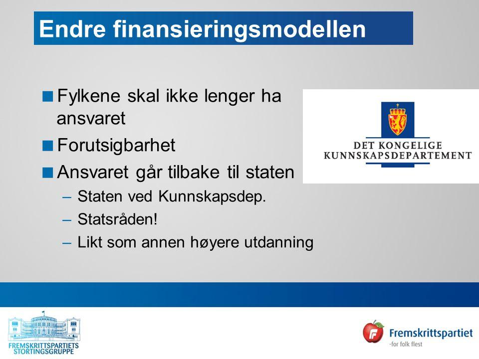 Ingeniør, maritim og helsefag  Norge mangler mellom 12- og 16000 ingeniører…stor mangel på maritimt personell  Underdekning på mellom 10 000 og 18 000 helsefagarbeidere i 2020  Samfunnsmessig ressurssløsing å ha skarpe skiller mellom utdanningssektorene  Fagskoletilbudet må utvides og det må legges til rette for at flere med annen yrkesbakgrunn får ta utdanning