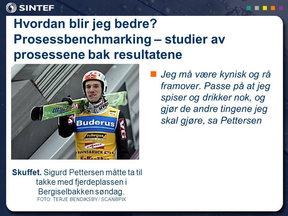 11 Skuffet. Sigurd Pettersen måtte ta til takke med fjerdeplassen i Bergiselbakken søndag. FOTO: TERJE BENDIKSBY / SCANBPIX Hvordan blir jeg bedre? Pr