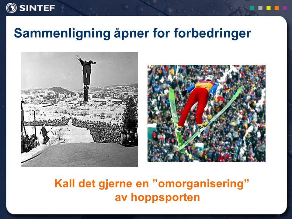 """12 Sammenligning åpner for forbedringer Kall det gjerne en """"omorganisering"""" av hoppsporten"""