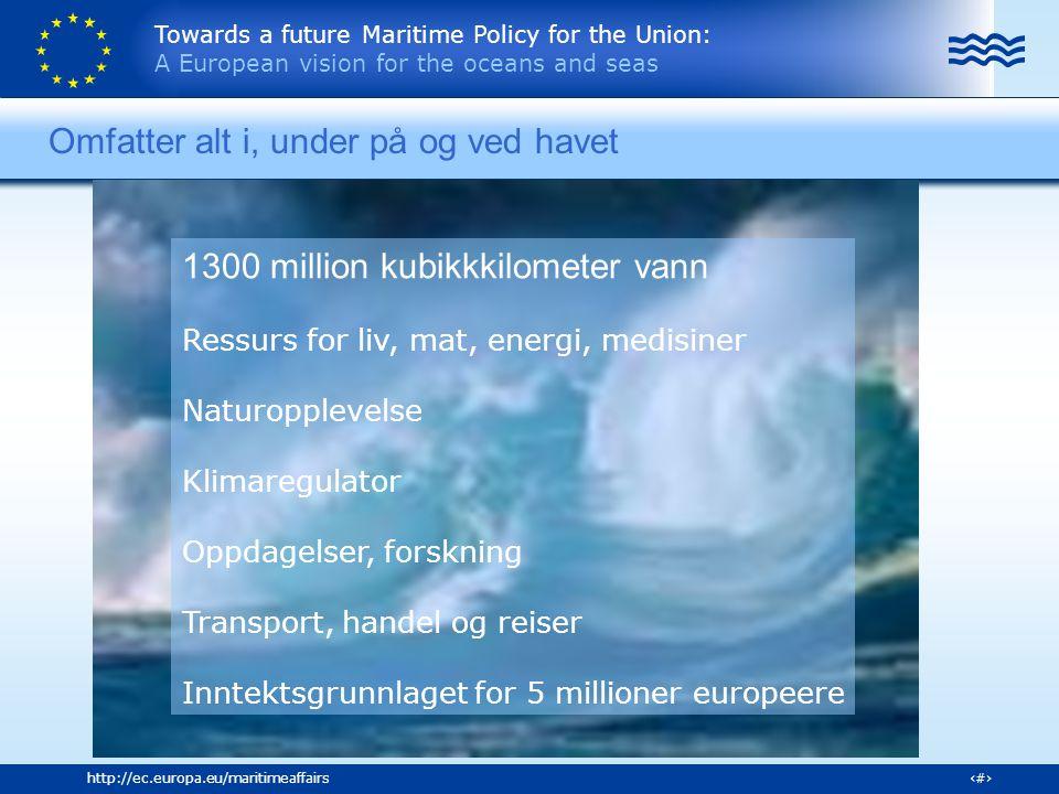 Towards a future Maritime Policy for the Union: A European vision for the oceans and seas 16http://ec.europa.eu/maritimeaffairs What's further on the Maritime Agenda Some activities of relevance to aquaculture Forskningsstrategi – teknologi synergier Modeller for arealplanlegging og integrert kystsoneplanlegging Klynge- Nettverk(EATP) Bærekraftig akvakultur okosystembasert – Europa som ledende for aa svare paa etterspoerselen Strategi for å redusere klimaeffekten i kystsonen