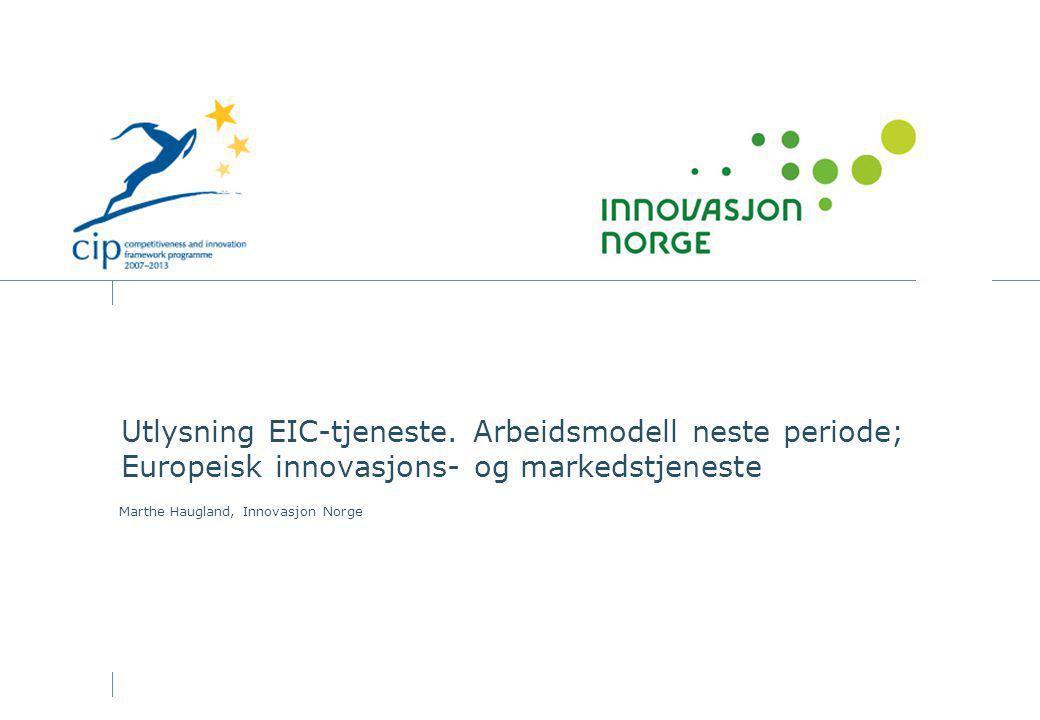 Utlysning EIC-tjeneste.