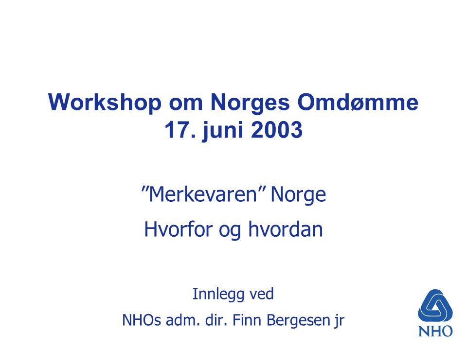 Workshop om Norges Omdømme 17.