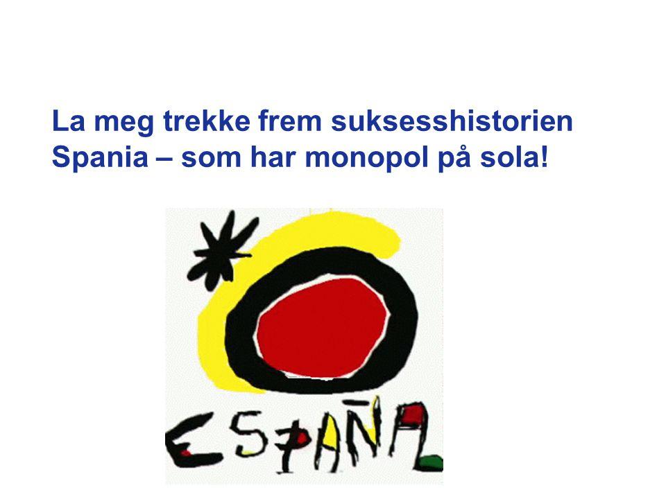 La meg trekke frem suksesshistorien Spania – som har monopol på sola!