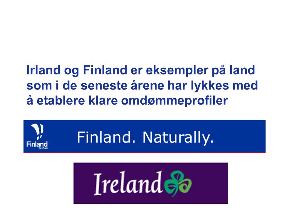 Irland og Finland er eksempler på land som i de seneste årene har lykkes med å etablere klare omdømmeprofiler
