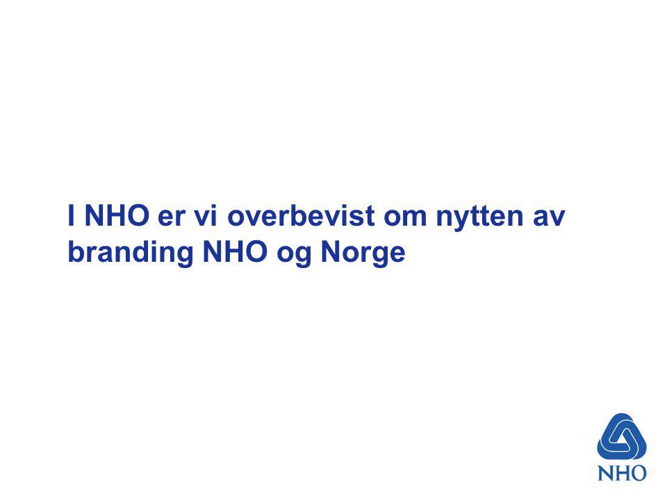 I NHO er vi overbevist om nytten av branding NHO og Norge