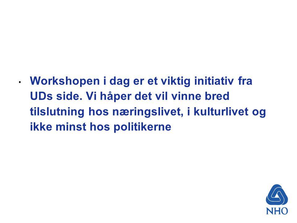 Våre utfordringer Vi må utmeisle en ny omforent strategi for Norgesprofilering Vi må skape en omforent holdning til hva som skal profileres Avgjørende at vi fokuserer få overordnede tema Tydeligere i kommunikasjonen – Hva er unikt for Norge?