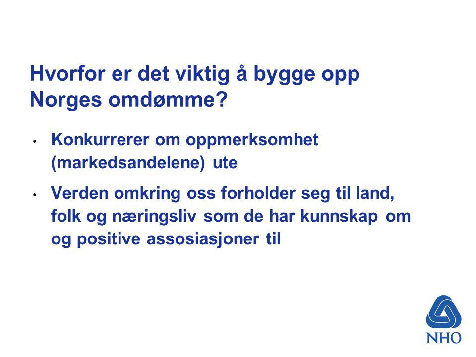Hvorfor er det viktig å bygge opp Norges omdømme.