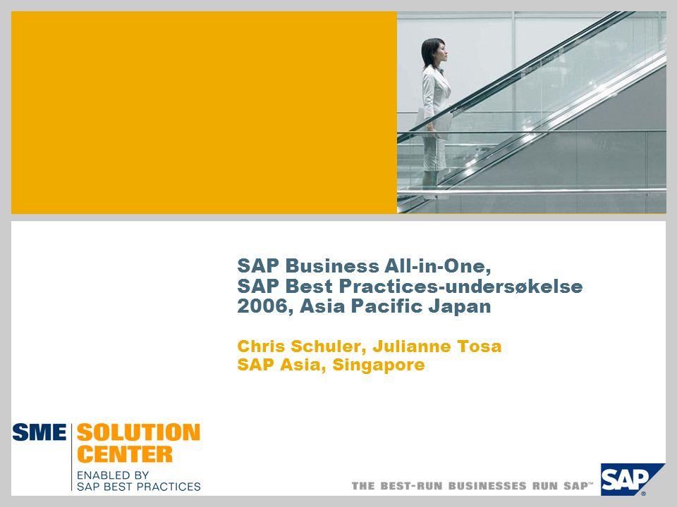 SAP Business All-in-One, SAP Best Practices er… Avkastningen p å investert kapital for kunder er god.