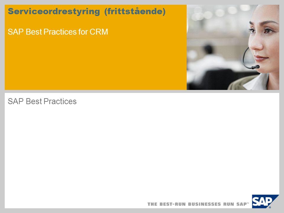 Scenariooversikt - 1 Formål Dette scenariet illustrerer hele prosessforløpet i kundeservicen i et frittstående CRM-system.