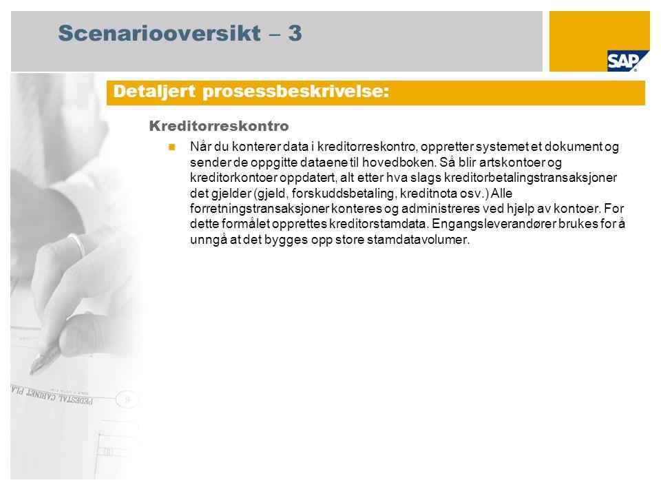 Ja Prosessforløpsdiagram Kreditorreskontro Regnskapsfører for kreditorreskontro 2 Hendelse Regnskapsfører for kreditorreskontro 1 Finnes forskudd s- betaling.