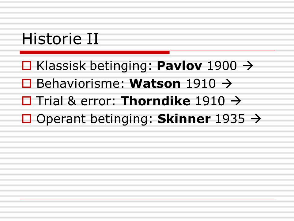 Eksperimentell atferdsanalyse  Funksjonell (eksperimentell) analyse for å avdekke årsaker til atferd  Respondent betinging  Operant betinging – 3-term-kontingensen  Preferanse for n=1 (Sidman, 1960)  Ett individ om gangen, repeterte målinger over tid  Pavlov, Thorndike, Skinner   Filosofi om årsaker til atferd  Følelser, tenkning forklarer ikke atferd, de er simply more behavior to be explained  Årsaker finnes i funksjonelle relasjoner mellom atferd og miljøbetingelser