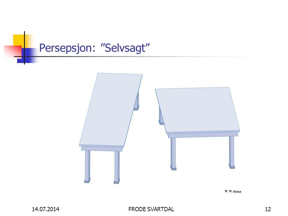 """14.07.2014FRODE SVARTDAL12 Persepsjon: """"Selvsagt"""""""