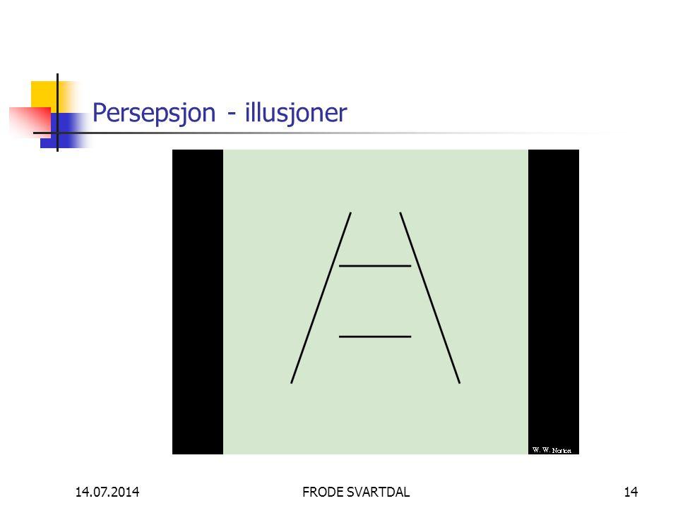 14.07.2014FRODE SVARTDAL14 Persepsjon - illusjoner